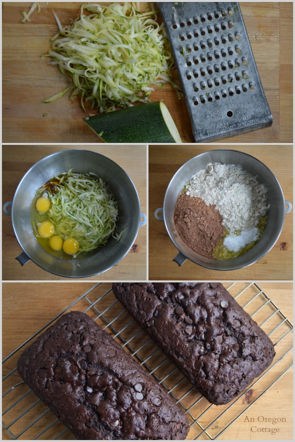 Dark Chocolate Zucchini Bread Sweetened with Honey