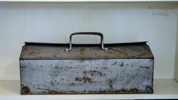 Industrial Cottage Style Vintage Metal Toolbox